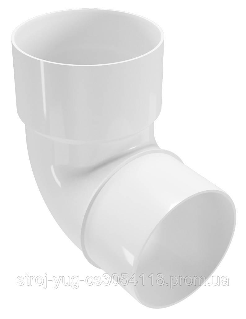 Колено трубы Regenau белое 87,5°/ 100 мм