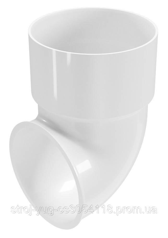 Сливное колено Regenau белое 100 мм