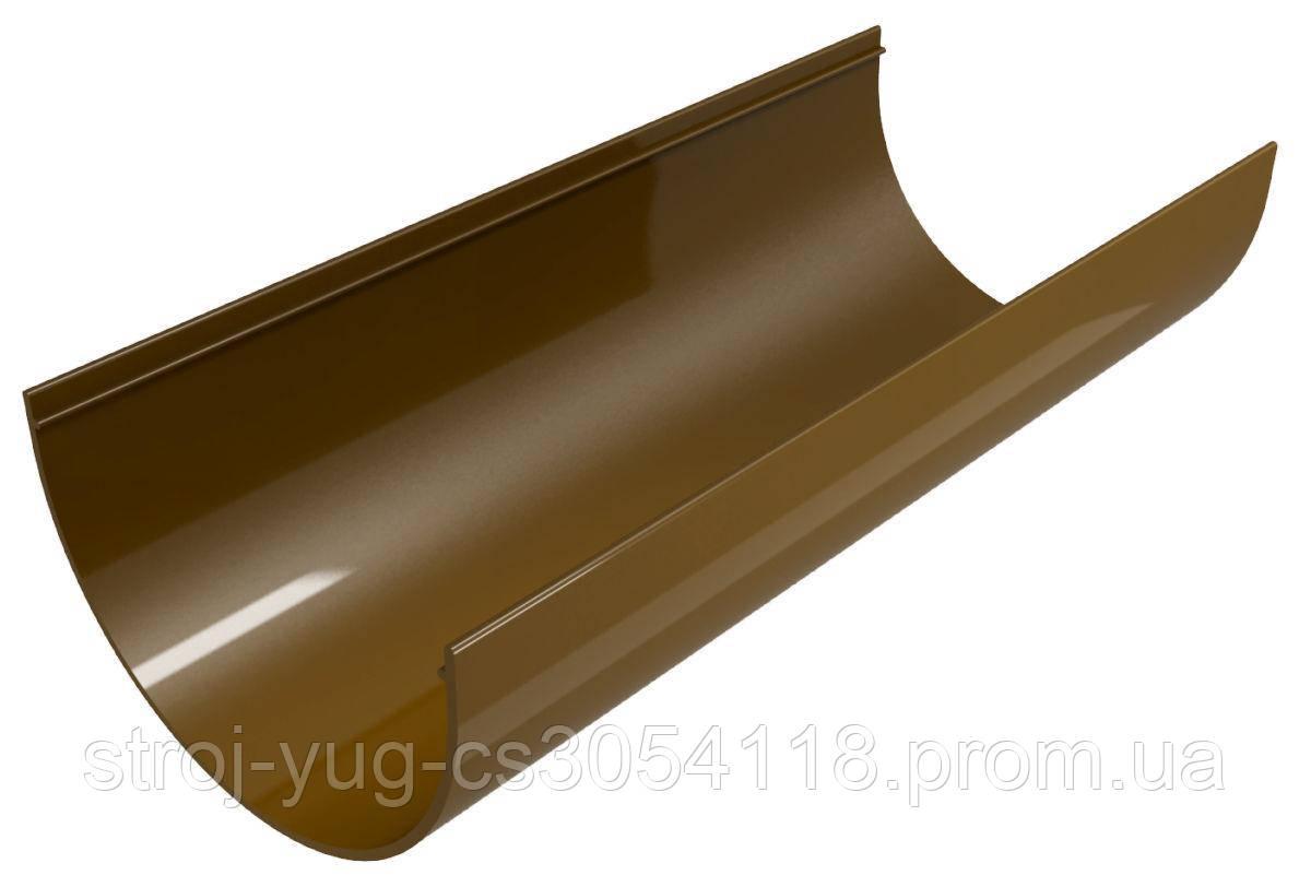Водосточный желоб система Regenau коричневого цвета