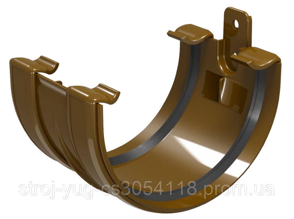 Соединитель желоба Regenau коричневый 125 мм