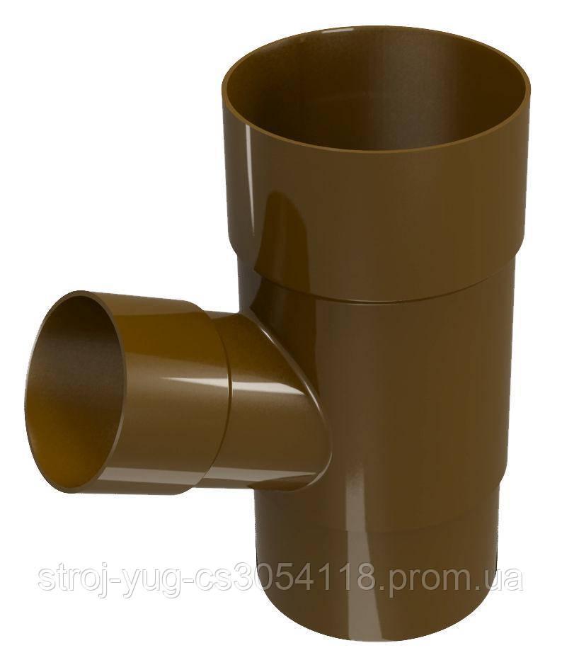 Тройник трубы Regenau коричневый 100/100/67,5°