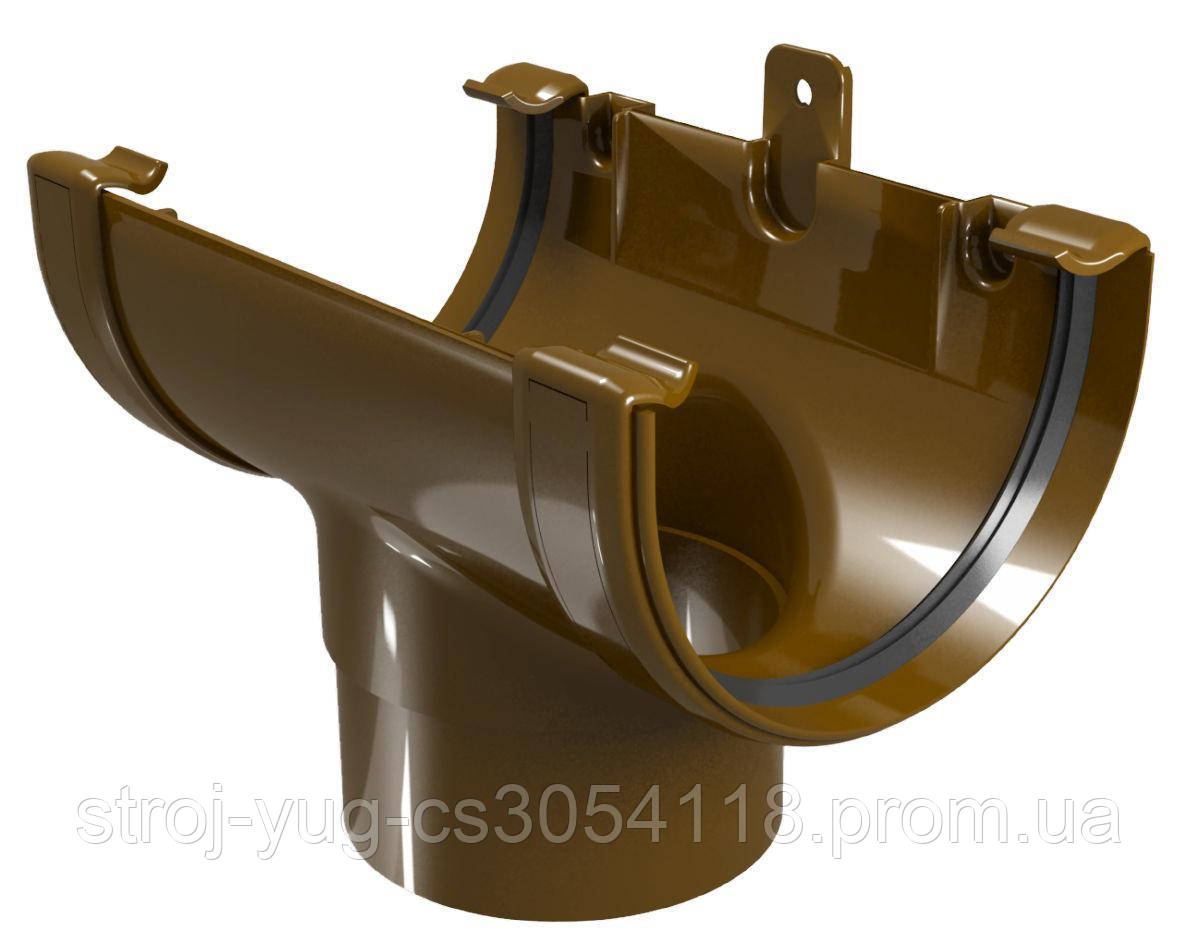 Воронка желоба Regenau коричневая 125/80