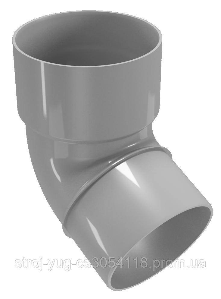 Колено трубы Regenau серое 67,5°/ 80 мм