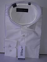 Рубашка мужская Ferrero Gizzi vd-0035 молочная однотонная классическая с длинным рукавом