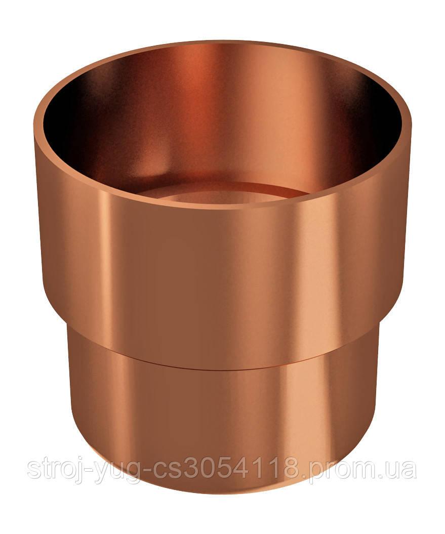 Соединитель трубы водосточной Regenau медный 100 мм