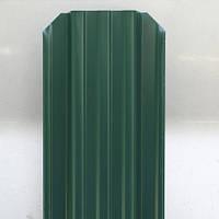 Штакет металлический, 115 мм, RAL 6005 (зеленый), 2-х сторонний.