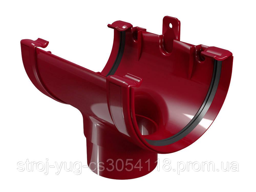 Воронка желоба Regenau бордовая 125/ 100 мм
