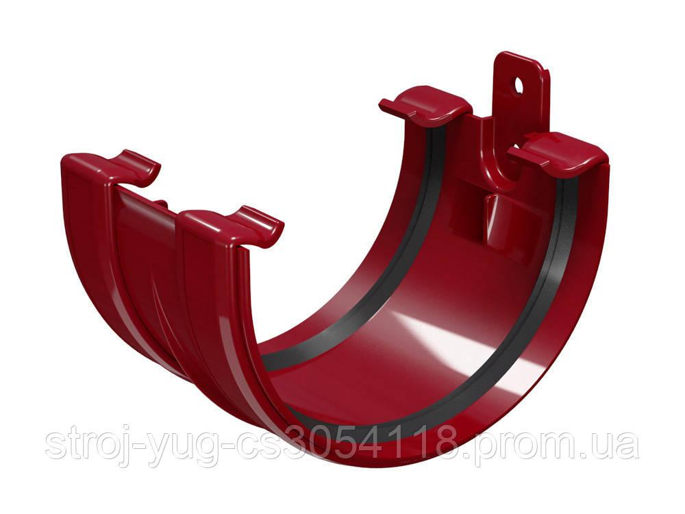Соединитель желоба Regenau бордовый 125 мм