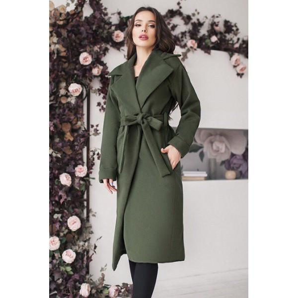 Женское пальто цвета хаки Даниель