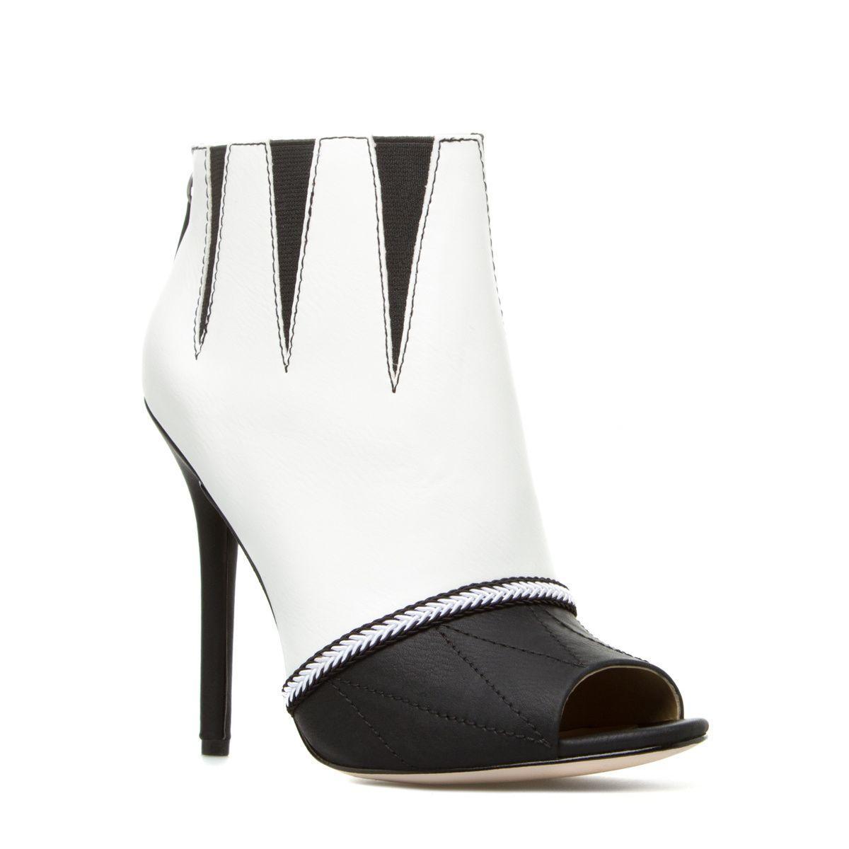 Ботильоны Shoe Dazzle Womens Fumiko Black White