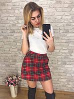 Женская юбка-шорты в клетку, фото 1