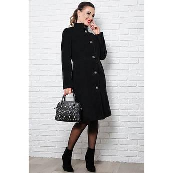 Черное классическое пальто Тереза