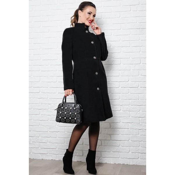 Черные пальто большого размера Тереза