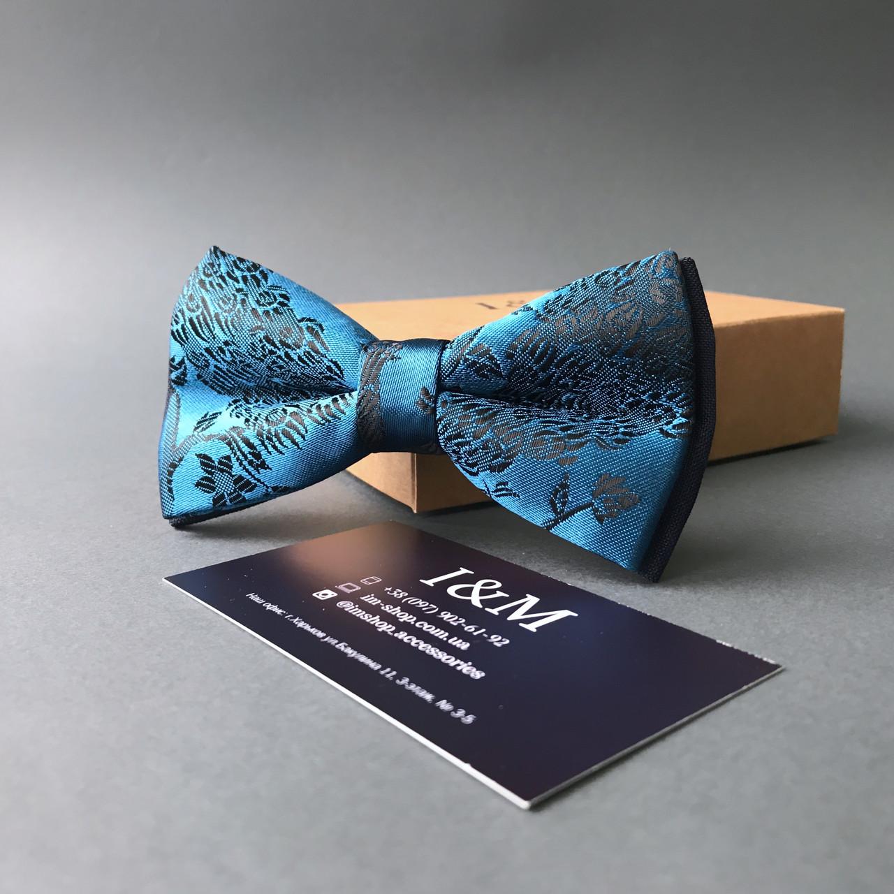 Галстук-бабочка I&M Craft голубой (0102004007)