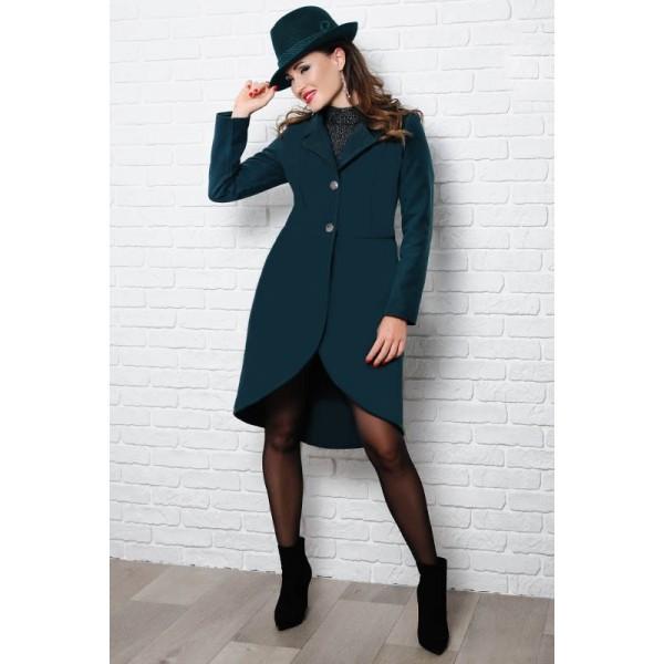 Женское демисезонное пальто Дориана, изумрудный
