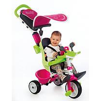 Детский велосипед Smoby 3-в-1 c бесшумными колесами + бутылка с водой, фото 3