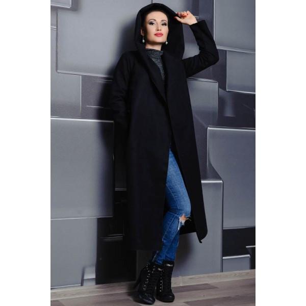 Черное классическое пальто Мариз,
