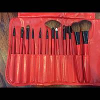 Подарок день св валентина SHANY Набор кистей для макияжа Professional 12 Piece RED