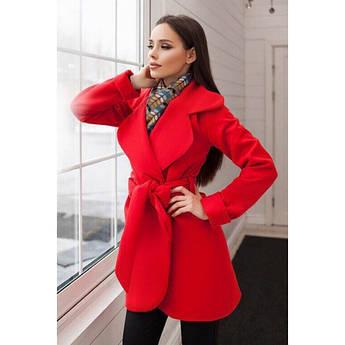Батальне пальто червоного кольору Альба