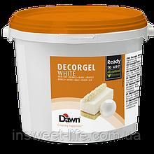 Кондитерський гель білий Dawn Dekorgel 3кг/банку