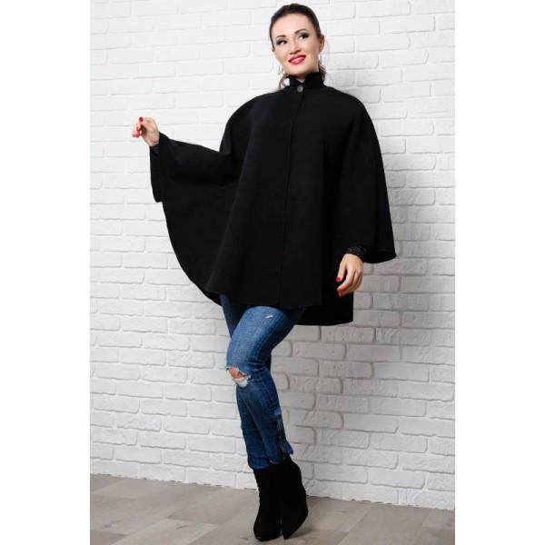 Модное черное пончо Клоди