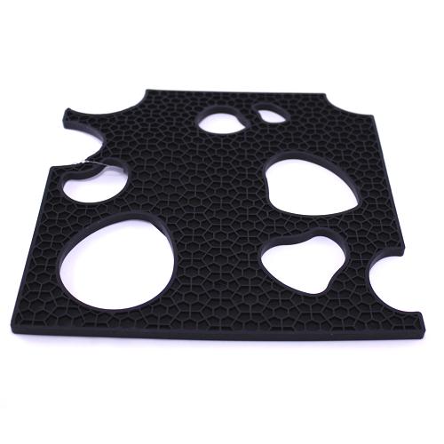 Подставка под горячее, 19х19 см, силикон, черный