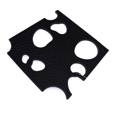 Подставка под горячее, 19х19 см, силикон, черный, фото 2