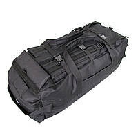 Сумка рюкзак дорожная 80 литров Размер 90х30х30 см Водоотталкивающая ткань нейлон 600х600 ден Черная
