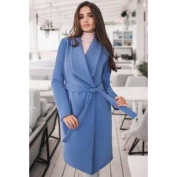 Блакитне кашемірове пальто Бентлі