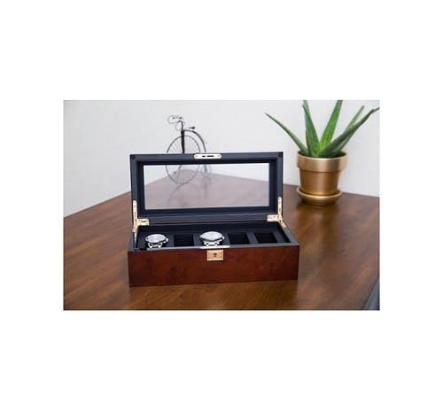 Шкатулки для хранения Wolf 461510 5 pc Watch Box Burl