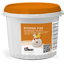 Гель кондитерський сріблястий Dawn Dekorgel Silver 3кг/відро
