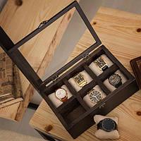 Шкатулки для подзавода Hetch Деревянная шкатулка для хранения часов DABO Hetch DS2