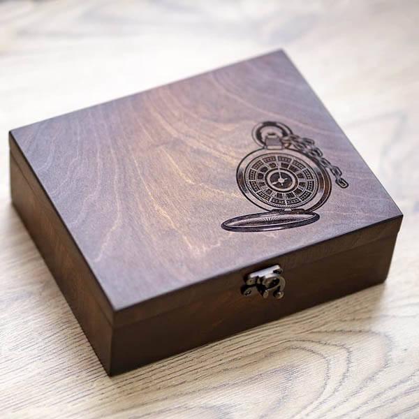 Шкатулки для подзавода Hetch Коробка для часов из дерева на 6 отделений DABO Hetch DS9