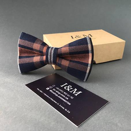 Краватка-метелик I&M Craft в клітку (010413), фото 2