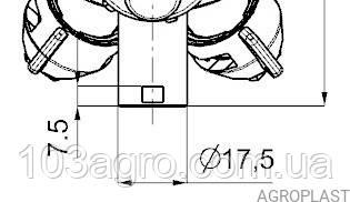 Форсунка 3-х опзиційна PROLINE (Стандарт RAU) 07 на трубу 25 мм, фото 3
