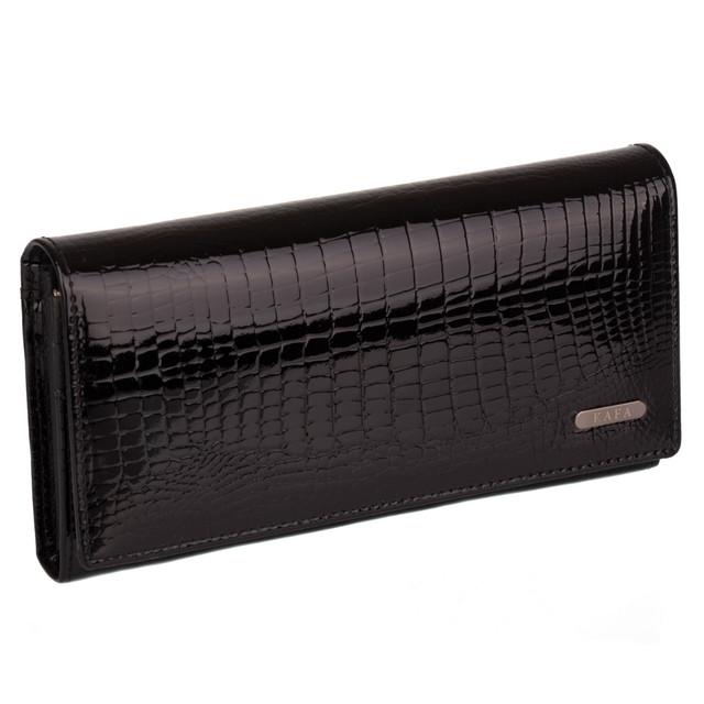 черный кожаный женский кошелек