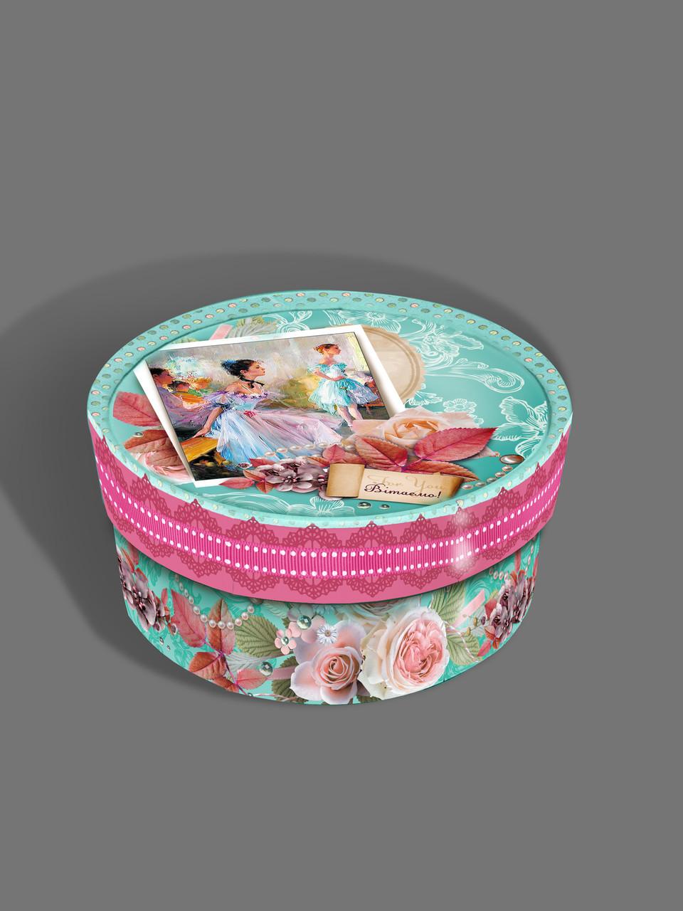 Подарочная картонная коробка 152*80 мм Тубус 600 грамм