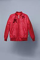 Детская куртка-ветровка для девочки красная