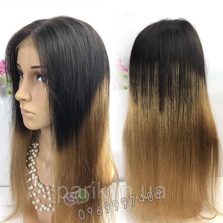 💎 Натуральный парик омбре (отросшие черные корни) 💎