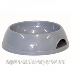 Moderna МОДЕРНА ЭКО миска для кошек, пластик, 200 мл, d-11,5 см, светло-серый