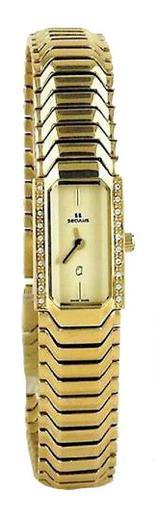 Женские часы Seculus 1634.2.732 pvd with stones case, yellow dial, pvd bracelet