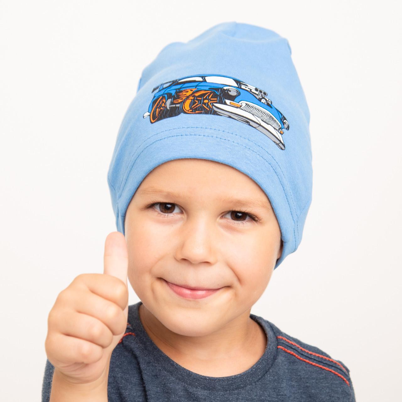 Хлопковая весенняя шапка для мальчика - Арт 2295