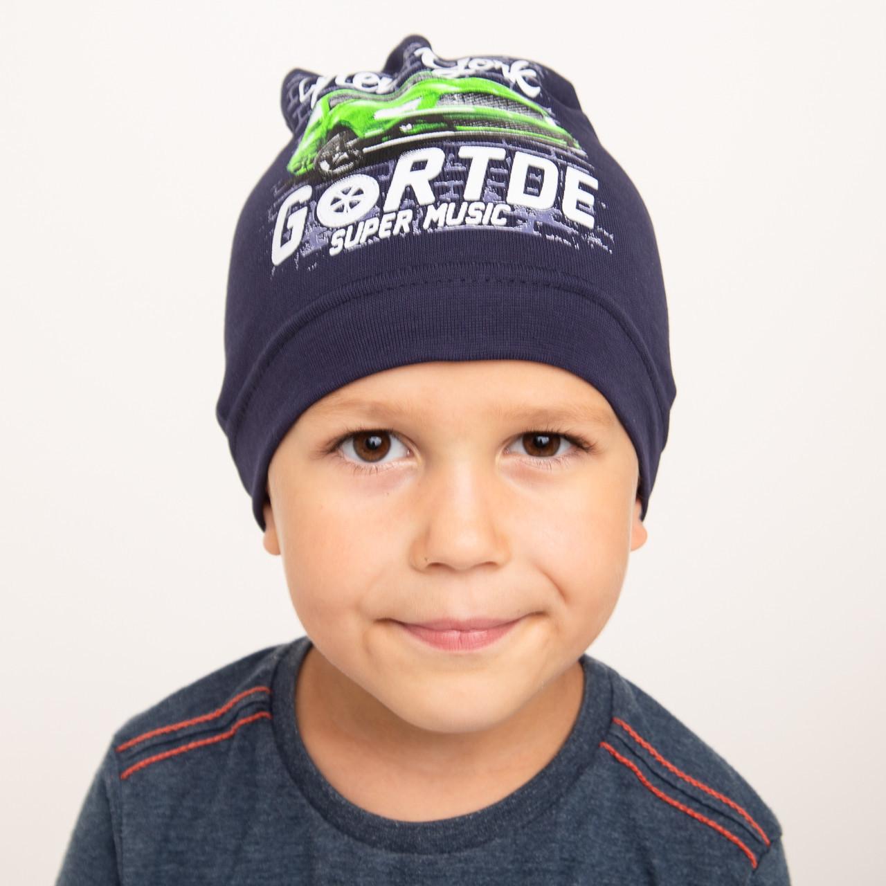 Спортивная шапка для мальчика на весну - Арт 2316
