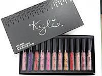 Набор матовых помад Kylie Black Edition 12 штук