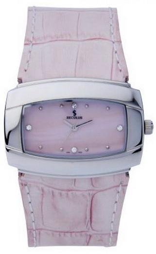 Женские часы Seculus 1594.1.763 mop.ss.pink leather
