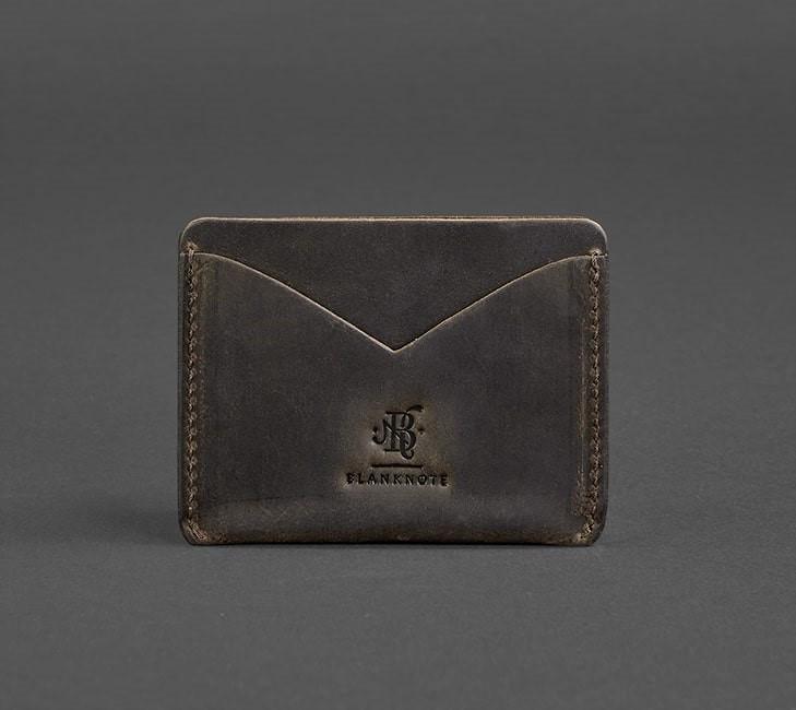 ba58353ca9de Купюрник-кейс кожаный мини мужской коричневый (ручная работа) -  Интернет-магазин