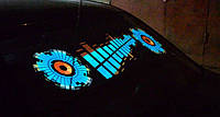 Эквалайзер на стекло авто №3 Sound яркий эквалайзер подарок