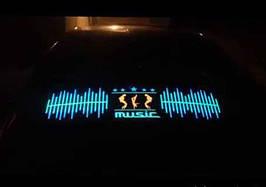 Эквалайзер на стекло авто №8 Music яркий эквалайзер подарок