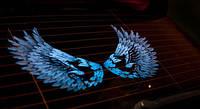 Эквалайзер на стекло авто №46 Крылья дракона/синие яркий эквалайзер подарок