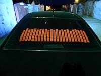 Эквалайзер на стекло авто Красный (114*30cм) яркий эквалайзер подарок
